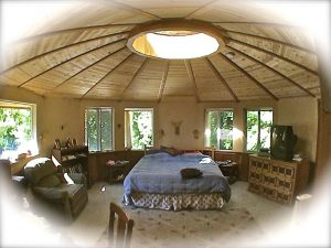 Cozy Bedroom Inside Yurt