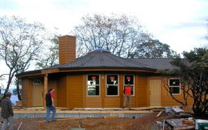 Carlson Yurt Nearing Completion