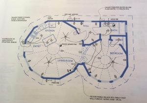 Blueprints for Yurt in Berkeley