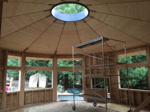 Construction Inside of Yurt