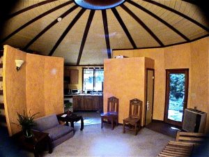 Interior of Nautilus Yurt